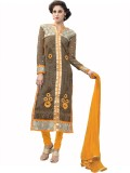 Viva N Diva Georgette Embroidered Salwar...