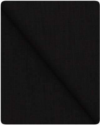 Jack Danieels Black Unstitched Shirt Pc Cotton Solid Shirt Fabric