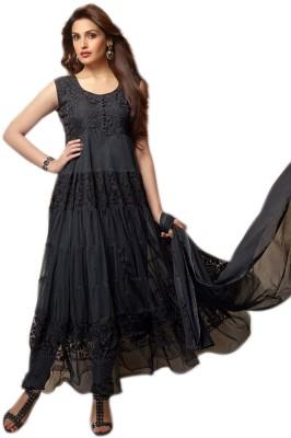NR Fashion Net Self Design Semi-stitched Salwar Suit Dupatta Material