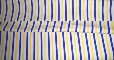 Ud Febric Cotton Polyester Blend Striped Shirt Fabric