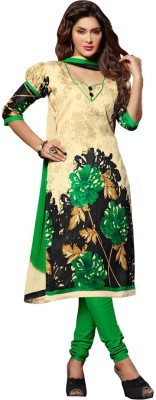 Youthmart Silk Printed Semi-stitched Salwar Suit Dupatta Material