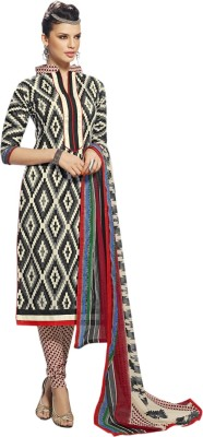 Aagamanfashion Cotton Printed Semi-stitched Salwar Suit Dupatta Material