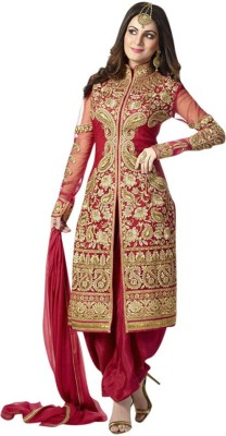 Jenny Creation Georgette Embroidered Salwar Suit Dupatta Material