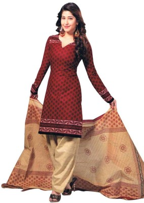 Chatri Fashions Cotton Printed Semi-stitched Salwar Suit Dupatta Material