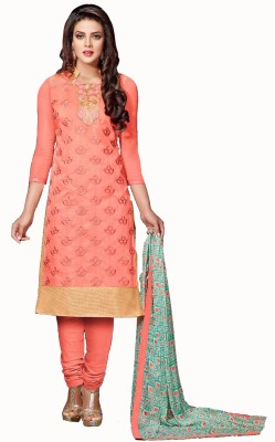 Barbarik Chanderi Embroidered Salwar Suit Dupatta Material