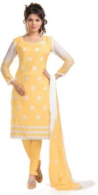 Khushali Cotton Self Design, Embroidered, Embellished Salwar Suit Dupatta Material