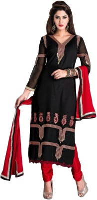 Reveka Fashion Georgette Self Design Dress/Top Material