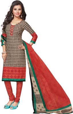 Salwar Studio Cotton Self Design Salwar Suit Dupatta Material