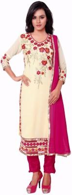 Jiya Georgette Self Design, Embroidered, Embellished Salwar Suit Dupatta Material