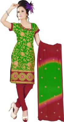 Shahlon Chanderi Embroidered Salwar Suit Dupatta Material