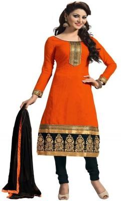 PMD FASHION Chanderi Embroidered Salwar Suit Dupatta Material