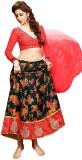 Inddus Cotton Silk Blend Embroidered Leh...