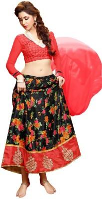 Inddus Cotton Silk Blend Embroidered Lehenga Choli Material