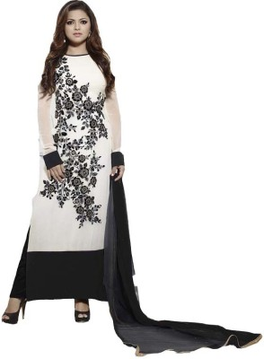 Loot Lo Creation Georgette Embroidered Semi-stitched Salwar Suit Dupatta Material