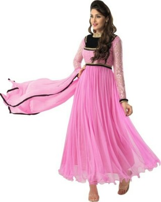 Nilkanth Communication Net Self Design Salwar Suit Dupatta Material