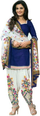 Wedding Villa Cotton Printed Salwar Suit Dupatta Material