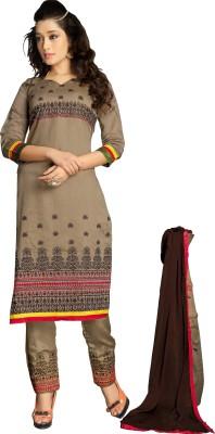 JS Pavitra Fabrics Chanderi Embroidered Salwar Suit Dupatta Material