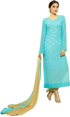 Trendz Apparels Chiffon Embroidered Salwar Suit Dupatta Material
