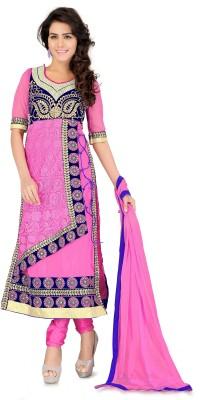 Vaani Net Self Design Semi-stitched Salwar Suit Dupatta Material