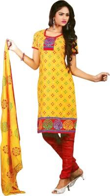 Poonam Cotton Printed, Embroidered Salwar Suit Dupatta Material