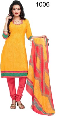 Shoppie Zone Crepe Printed Salwar Suit Dupatta Material