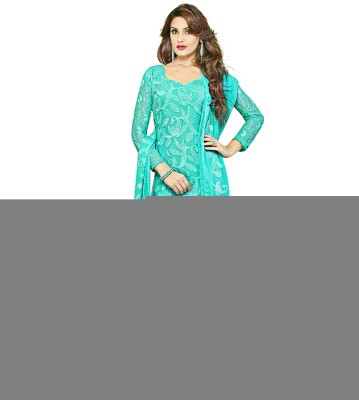 naman Cotton Polyester Blend Embroidered Salwar Suit Dupatta Material