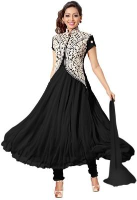Vinayak Georgette Embroidered, Self Design Semi-stitched Salwar Suit Dupatta & Waistcoat Material