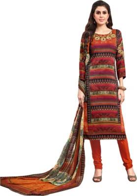 Belletouch Cotton Polyester Blend Printed Salwar Suit Dupatta Material