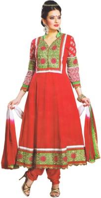 Raaj Boutique Georgette Self Design Semi-stitched Salwar Suit Dupatta Material