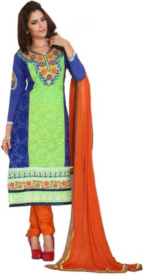 Shree Sai Exports Georgette Self Design Salwar Suit Material