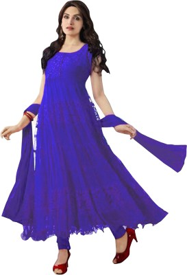 Nikshi Brasso Self Design Semi-stitched Salwar Suit Dupatta Material