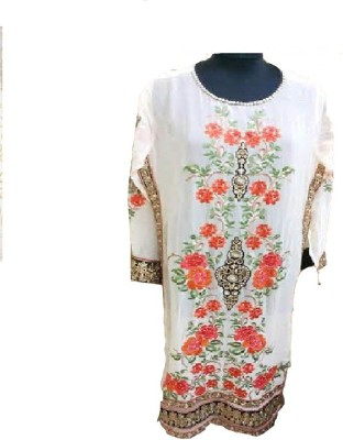M.S. Ansh Georgette Embroidered Kurti Fabric