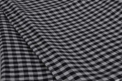 Miro Linen Checkered Shirt Fabric