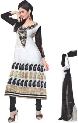 Ap's Georgette Embroidered Salwar Suit Dupatta Material