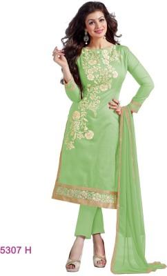 Shaili Silk Embroidered Salwar Suit Dupatta Material