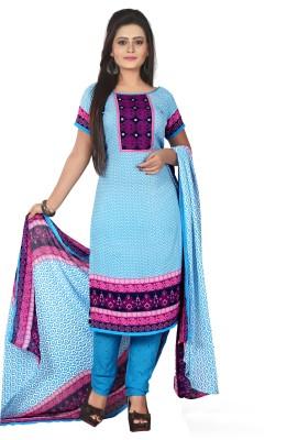 Anshul Textile Crepe Printed Salwar Suit Dupatta Material