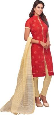 Khoobee Chanderi, Silk Self Design, Embroidered Salwar Suit Dupatta Material