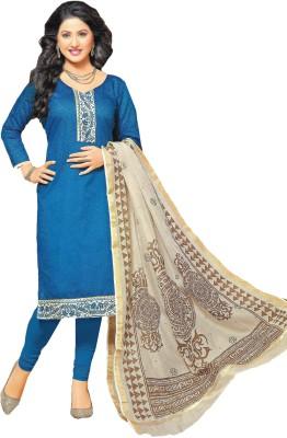 Banjaraindia Chanderi Printed Salwar Suit Material