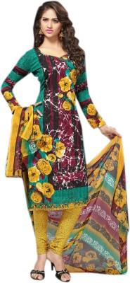 Jhumri Synthetic Floral Print Salwar Suit Dupatta Material