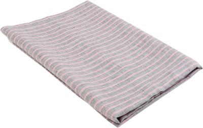 Boalamo Linen Striped Multi-purpose Fabric(Un-stitched)