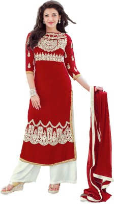 Cilver Fashion Georgette Embroidered Salwar Suit Material