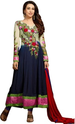 Pakiza Design Georgette Embroidered Semi-stitched Salwar Suit Material