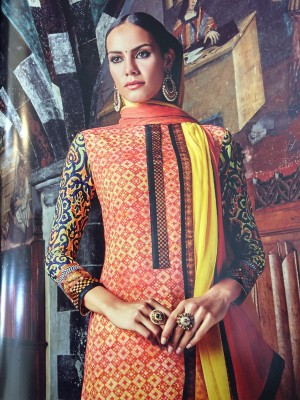 KCreations Cotton Printed Suit Fabric, Salwar Suit Dupatta Material