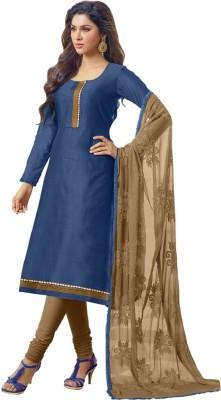 Mastani Chanderi Embroidered Semi-stitched Salwar Suit Dupatta Material