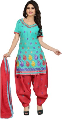 Shyam Suits Cotton Embroidered Salwar Suit Dupatta Material
