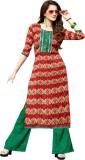 Abhinna Cotton Printed Dress/Top Materia...