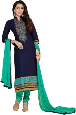 Radhe Studio Cotton Embroidered Salwar Suit Dupatta Material