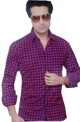 Cotton Fabico SADALENE Cotton Polyester Blend Checkered Shirt Fabric