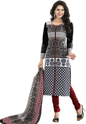 Salwar Studio Synthetic Printed Salwar Suit Dupatta Material