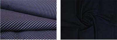 ZainSain Cotton Checkered, Solid Shirt & Trouser Fabric